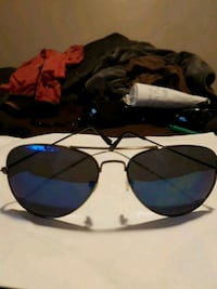 black framed aviator style sunglasses Windsor