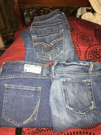 "3 pair of designer jeans- silvers, joe""s, lucky brand etc Fishers, 46250"