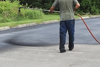 Seal coating- parking lots , drive ways , fully insured/licenses  Graham