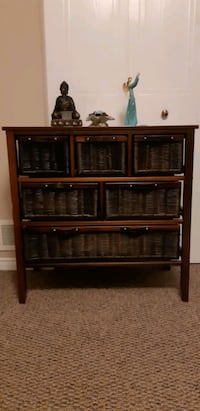 Large wicker chest of drawers  London, N6E 3B8