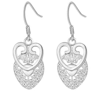 Heart earrings in real sterling silver stamped .925 BRAND NEW Montréal