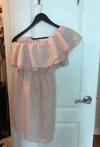 H&M blush pink one shoulder ruffle dress size small 4 size small  Toronto, M9C 1B8