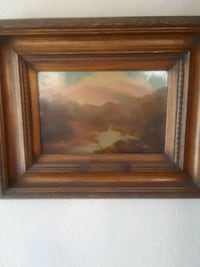 brown wooden framed painting of house Antioch, 94509