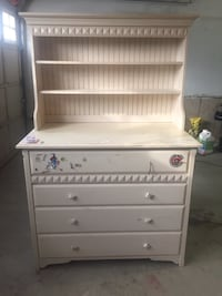 Maple Cream/white Dresser with deep drawers
