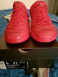 pair of red Air Jordan Flight Luxe SP with box Fort Worth, 76103