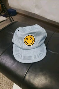 Smiley face demin cap