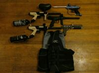 """5 WORKING PAINTBALL GUNS"" ""TANKS AND VEST"" Silver Spring, 20910"