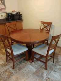 Wooden table with four chairs dining s Morris County, 07054