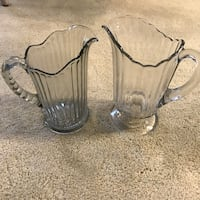 Vintage depression glass pitchers  Broadview Heights, 44147