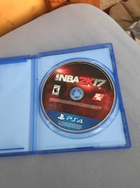 NBA 2K17 PS4 game case Martinsburg, 25404