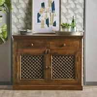 Brown Finished Solid Mango Wood Sideboard Los Angeles, 90039