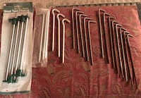 """23 Ground/Tent Stakes 7,8,10"""" (all for $5) San Antonio, 78244"""