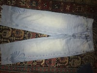 Vintage H&M mom jeans with embroidered hem size small  219 mi