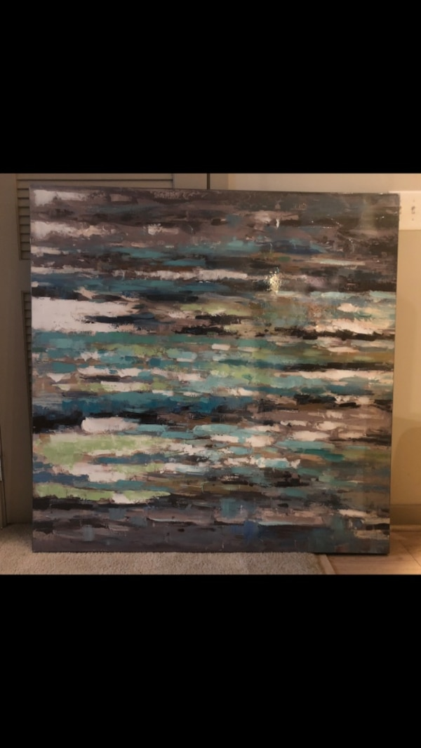 Pier One Watercolor Canvas Painting