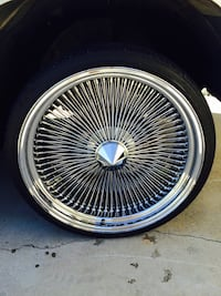 """24"""" Dayton style wire wheels with almost new tires 255/30/24's Hacienda Heights, 91745"""