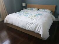 IKEA King Malm bed frame with 4 drawers Vaughan, L6A