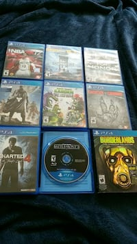 Nine assorted PS4 games Calgary, T2J 4S2