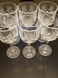 6 Crystal wine glasses Baltimore, 21229