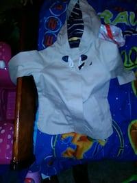 baby's white and blue footie pajama Evansville, 47710