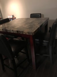 5 Piece High dining table and chairs
