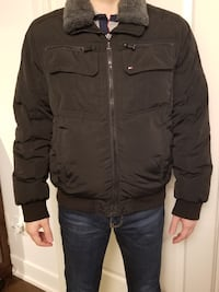 ommy Hilfiger men's 85% down winter jacket with artificial fur
