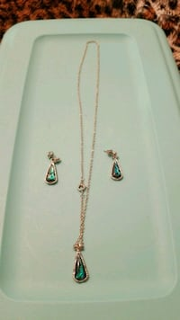 Silver necklace with pendant & matching earrings Edmonton, T5S 1T5