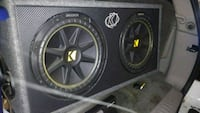black Kicker loaded subwoofer enclosure Westerville, 43082