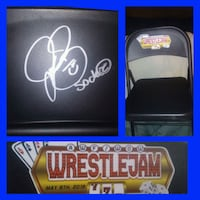 Mick Foley/Socko signed chair from AWF/WOW WrestleJam 7 McComb, 39648