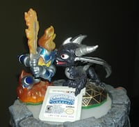 Skylanders 3DS game with pad and action figures North Highlands