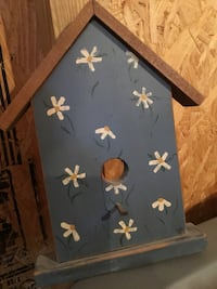 blue, white, and brown wooden birdhouse Ocala, 34479