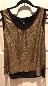 XL women's Kenneth Cole gold and black top 507 km