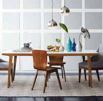 Modern table and chair set from West Elm