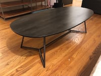 CB2 Wooden Coffee Table Oval Los Angeles, 90039