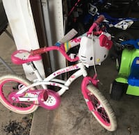 toddler's white and pink Hello Kitty-themed bicycle Wichita, 67220