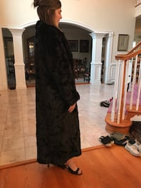 Original black mink fur coat (full length)  37 km