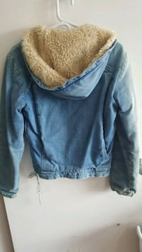 Denim Pullover coat fits size small