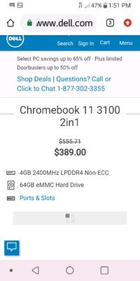 Chromebook product line:Chromebook  Operating system:Chrome OS  Screen Des Moines, 50312