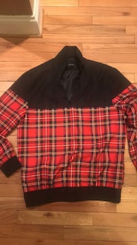 Black and red plead jacket size small Baltimore, 21215
