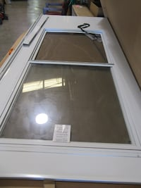 "EMCO 36"" x 80 Triple Track White Storm and Screen Door-No Hardware"