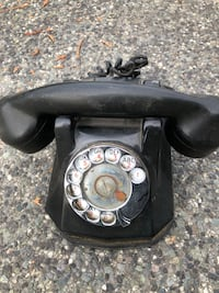 Antique 1945 World War II phone rotary dial Bakelite black works! Philips Electric Canada $50 Vancouver, V5R 4R6