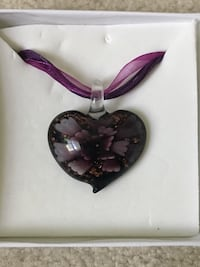 Purple and white floral pendant