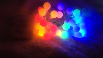 Battery powered Multi colored mini globe LED string lights