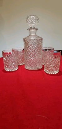 Glass Decanter and glasses Richmond Hill, L4C 8N5