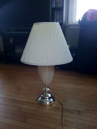 white and gray table lamp Welland, L3C 1M2
