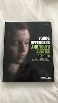 """Young offenders and youth justice"" in good condition, barely used it."