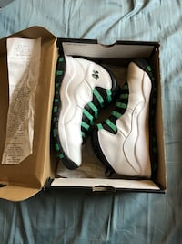 pair of white-and-green Nike basketball shoes Chula Vista, 91910
