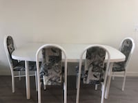 Dining table with 4chairs  Edmonton, T6E 4Y8