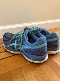 Pair of blue ASICS running shoes Vancouver, V5Z 3M9
