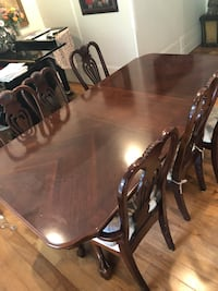 Formal dining room table and six chairs Fairfax Station, 22039