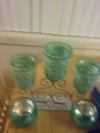 green and clear glass cups Hillcrest Heights, 20748